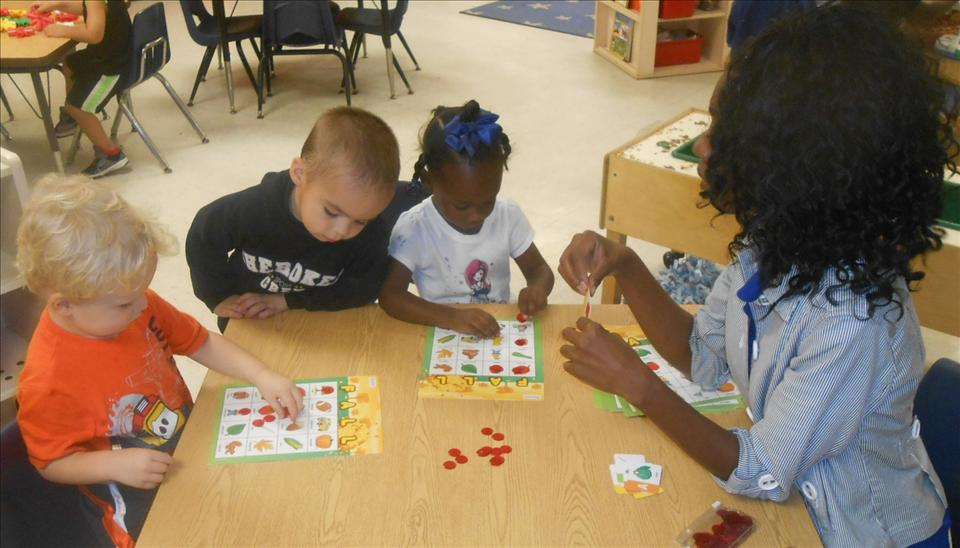 This is What Learning Looks Like: Building brain power when playing lotto games to develop pre-math skills and knowledge.
