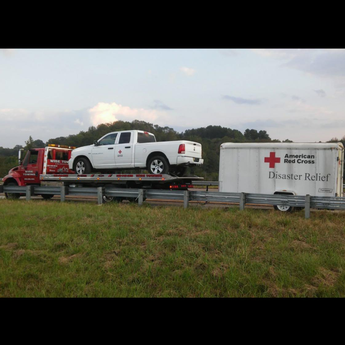 We got to go help out our friends with the American Red Cross Disaster Relief Team today. So thankful for them and what they do to help those in need. So glad they chose to call on us in their time of need. It was an honor getting to help them. Thank you for all you do and God bless! #godisgood #madetoserve #ilovemyjob #redcross #disasterrelief #turningwrenches #towingcars
