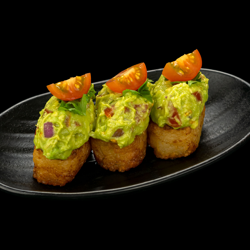 Click to expand image of Vegan Crispy Rice with Guacamole