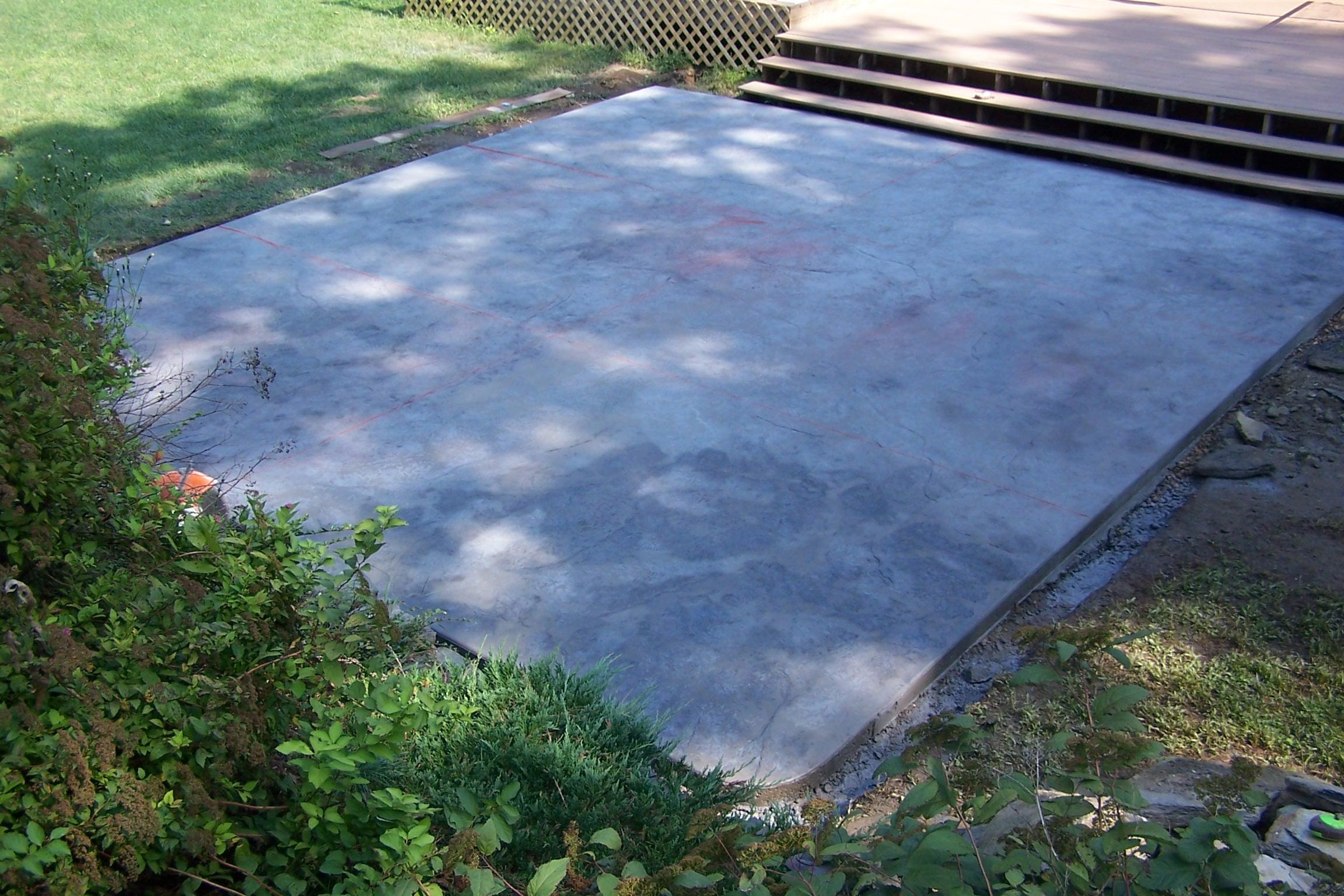 Concrete Pad Banas Concrete Service Poured