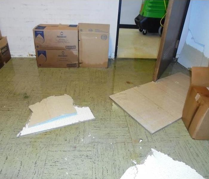 Commercial Water damage? Our crews will help clean up. Please stay off of wet floors. SERVPRO of Laporte County will be there to help. Give our office a call at-  219-879-1883.