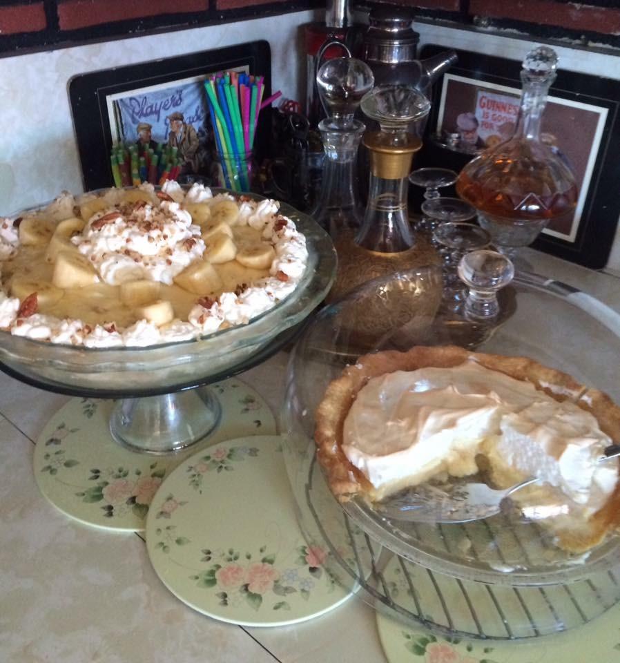 Lemon Merengue & Banana Cream Pies