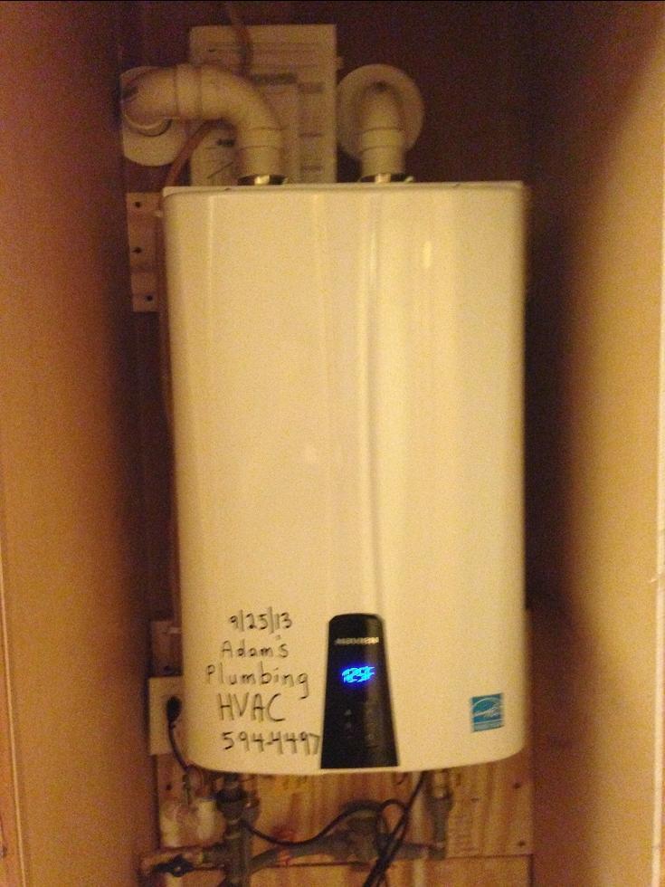 Navien 98% efficient continuos flow water heater