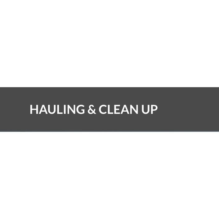 Hauling & Clean Up