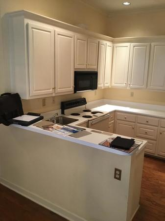 Before- Natural White Kitchen Counter Top