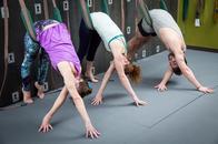 Yoga on our Yoga Wall