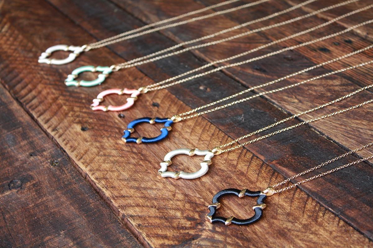 Wholesale quatrefoil necklaces.