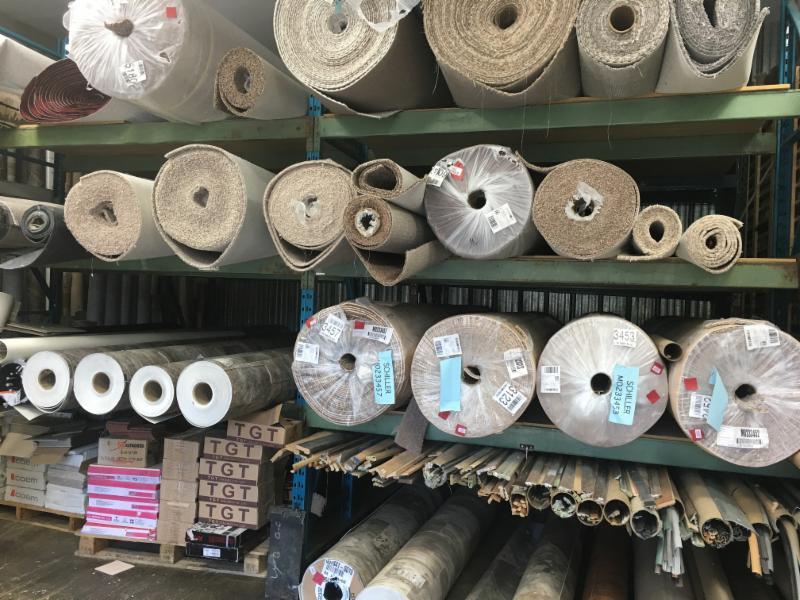 Schiller Floors Ltd in Quesnel: carpet and lino warehouse rolls