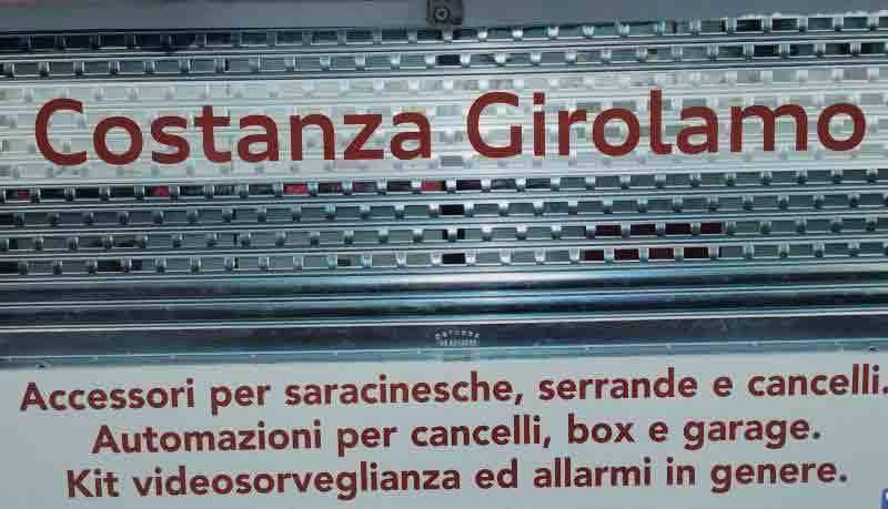 Costanza girolamo for Saracinesche per garage