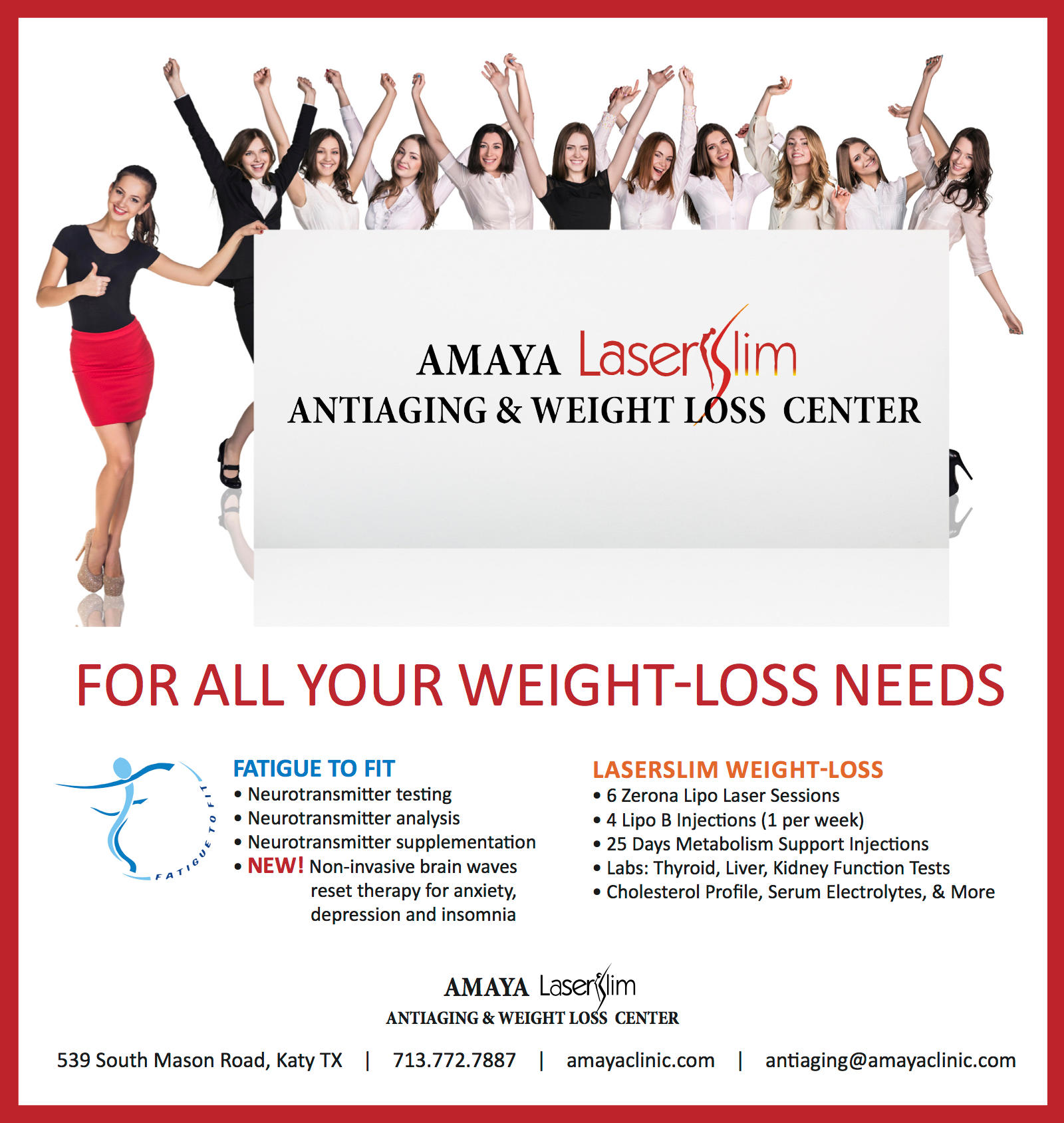 Amaya Antiaging and Weight Loss Center in Katy, TX | Whitepages