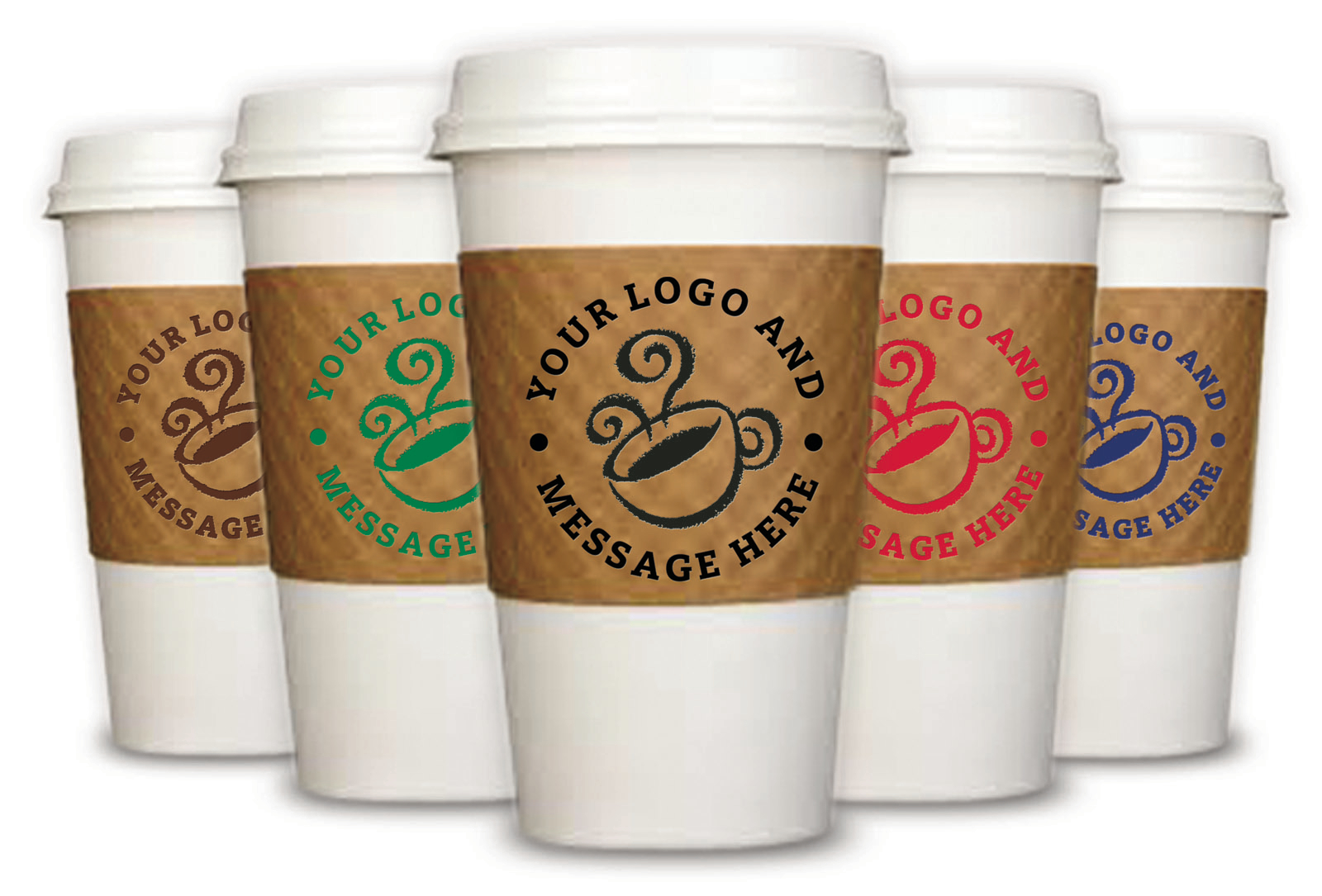 image of the Printed Coffee Cup Sleeves