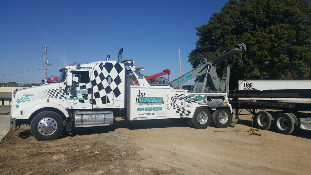 Davenport's heavy duty towing services