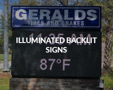 Illuminated Backlit Signs