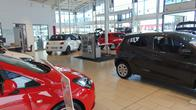 Cars inside the Vauxhall Hull West showroom