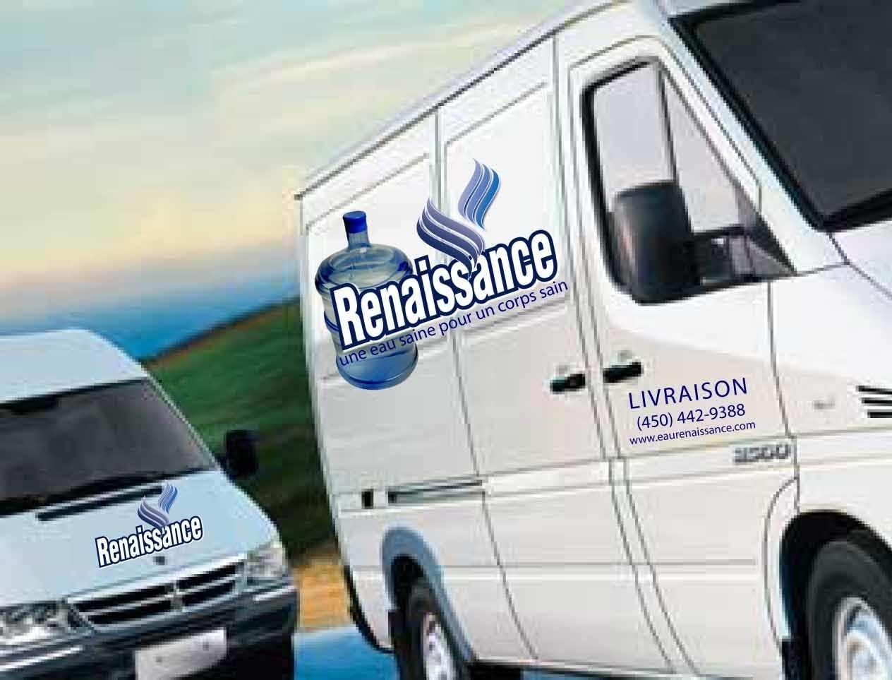 Eau Renaissance à Longueuil: Renaissance Water delivery truck