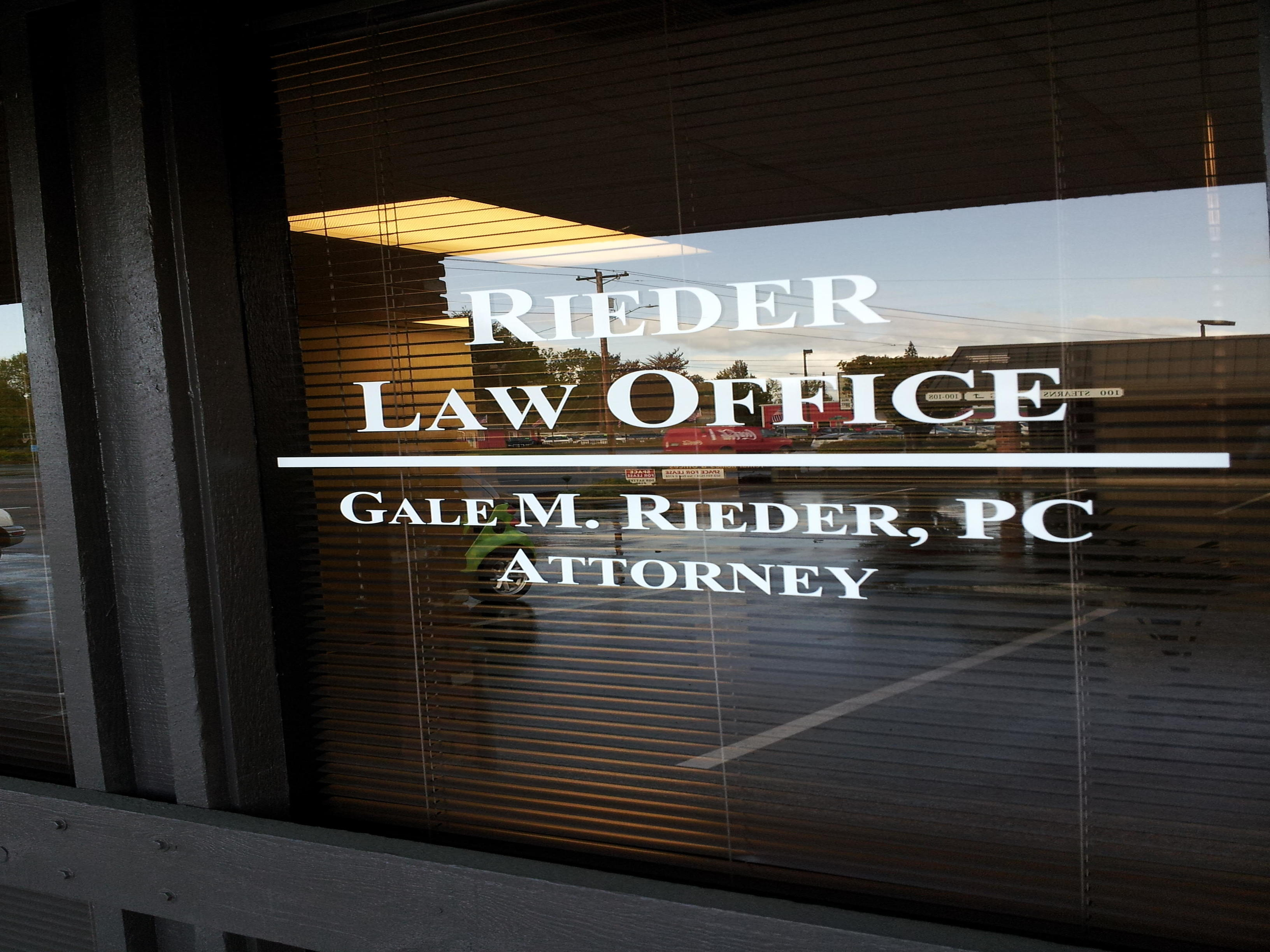 Rieder Law Office, Gale M. Rieder, PC, Attorney - ad image