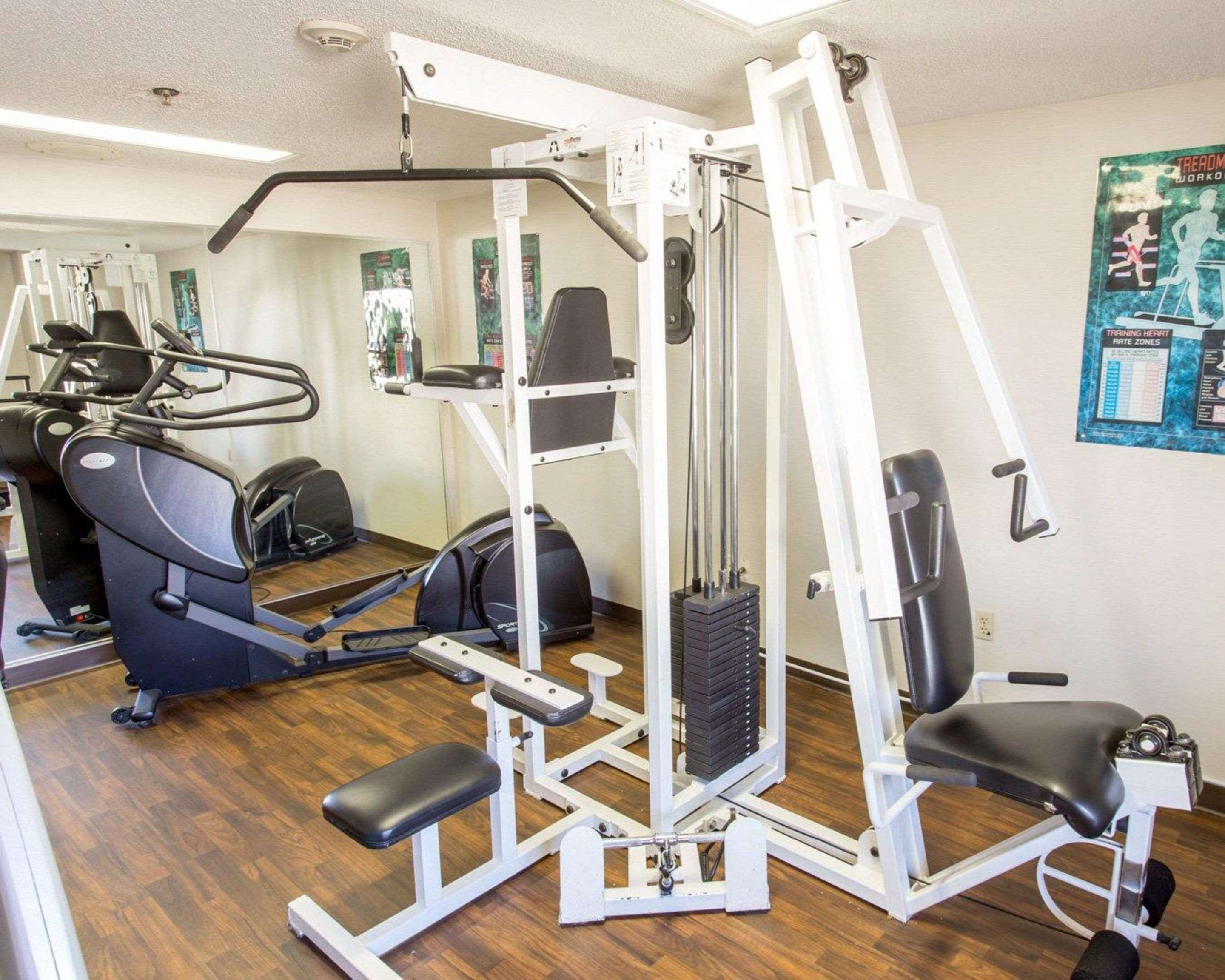 Fitness center with cardio equipment and weights