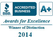 Awards for Excellence, A+ Rating with the BBB