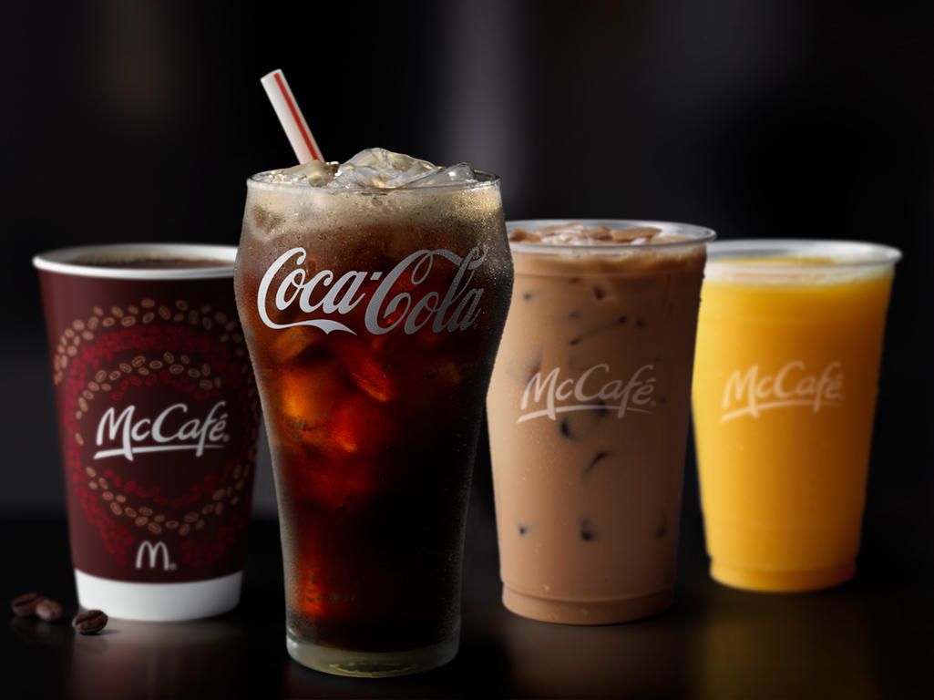 McDonald's Drink Menu Beverages