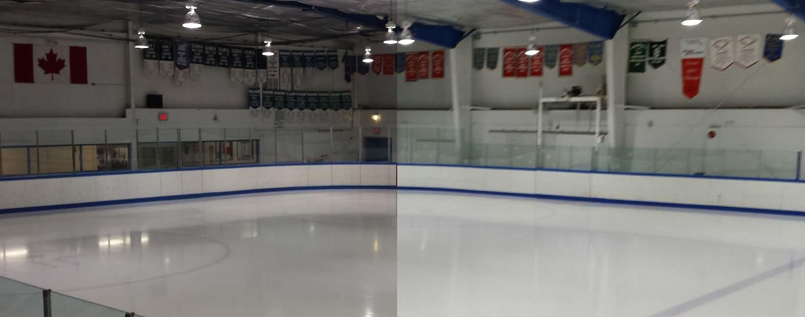 Mr. Electric in Victoria: Check out the difference this LED lighting upgrade made to this hockey arena! The ice went from gray to white!!  Ask us about 30%-100% grants available to upgrade your business today