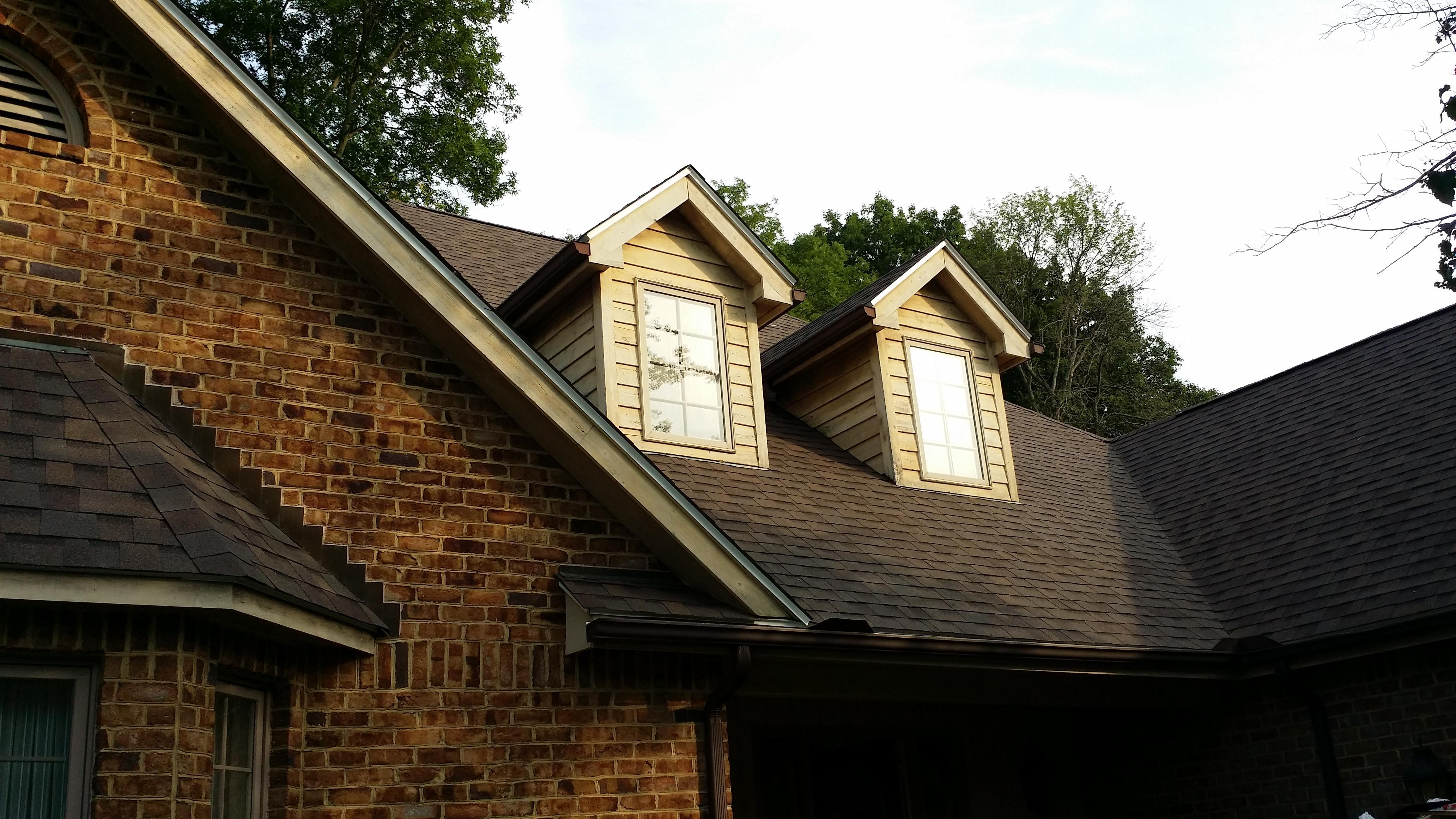 Roof Replaced With Teak Owens Corning Duration Algae