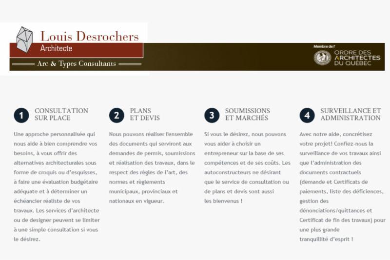 Louis Desrochers Architecte - Arc & Types Consultants à Québec