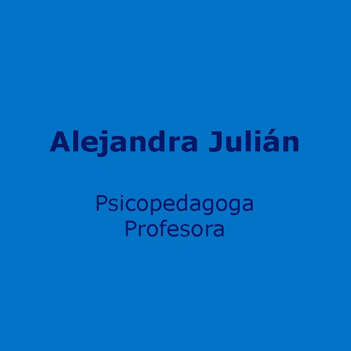 Psicopedagoga y Profesora  Alejandra Julián