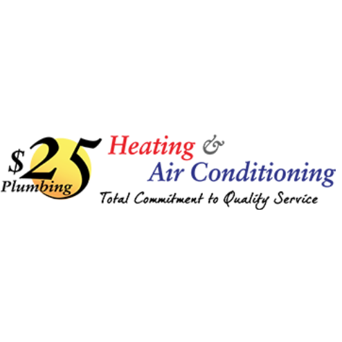 $25 Plumbing, Heating & Air Conditioning