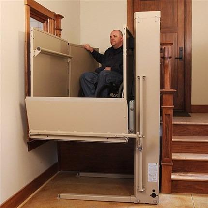 Electric Vertical PlatformLifts VPL3100 Residential & Commercial Porch Lifts for Wheelchairs and Mobility Scooters for Senior and Elderly, handicapped accessibility with disabilities