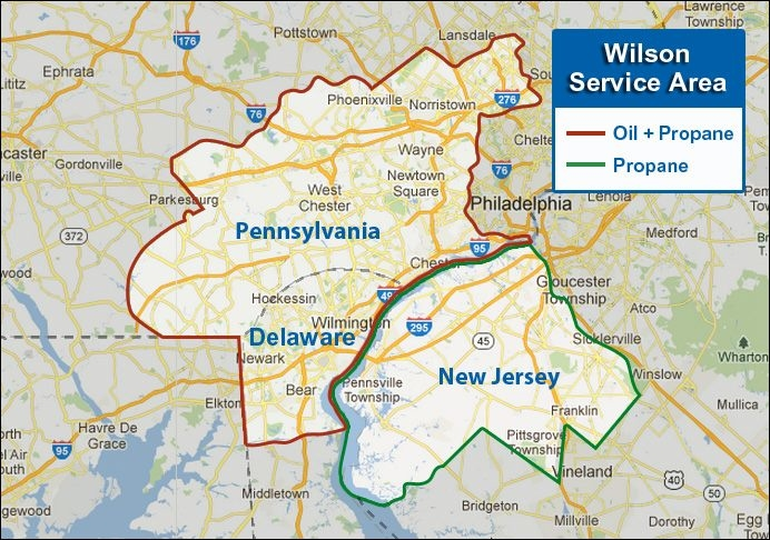 We happily serve residents in these areas of Pennsylvania, Delaware, and New Jersey.