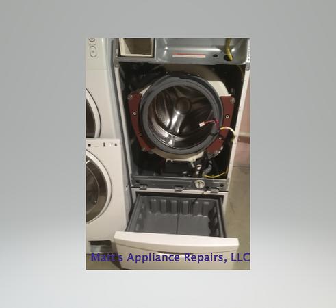 Washing machine repair in progress