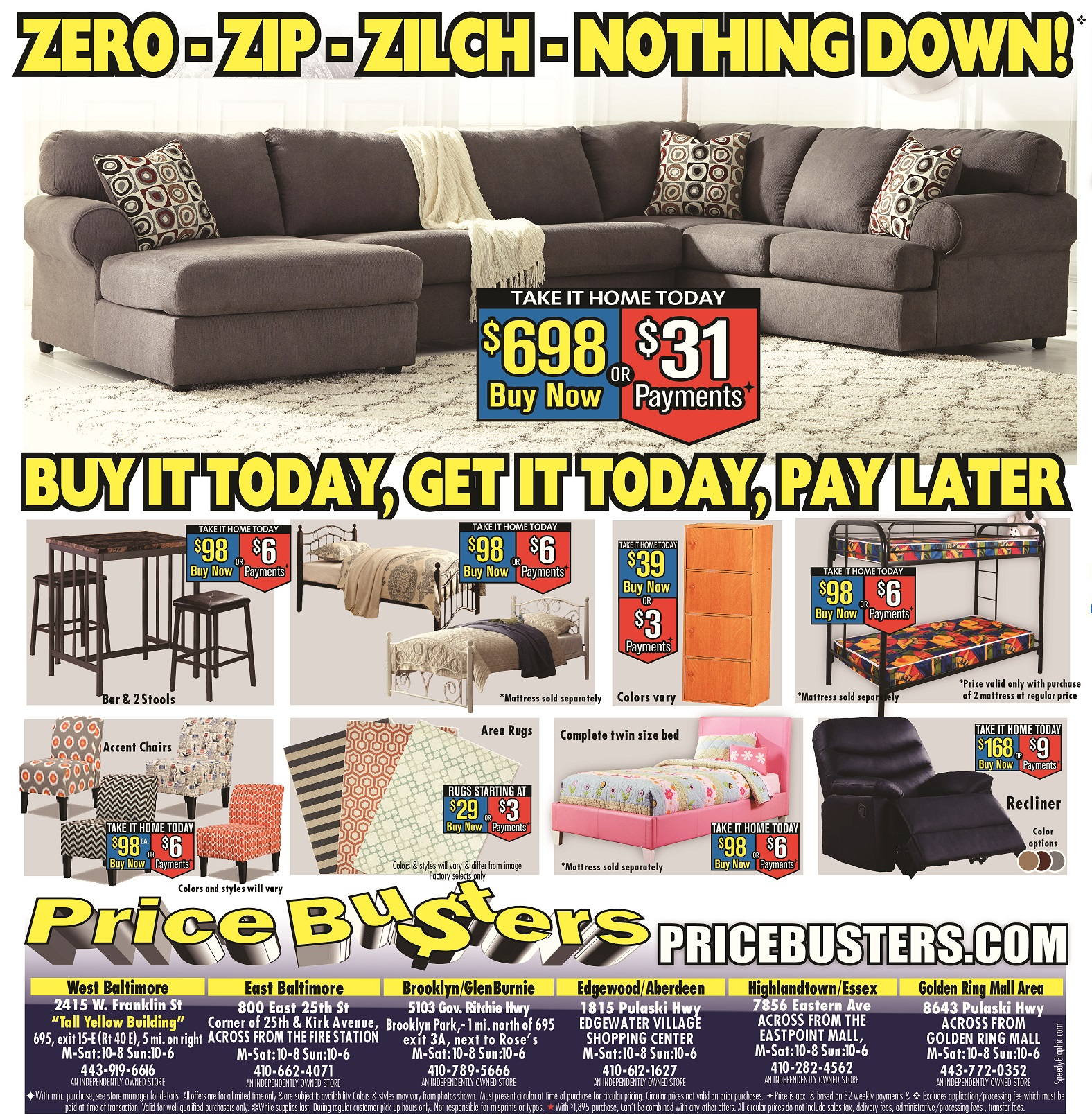 price busters discount furniture - bedroom furniture - hyattsville