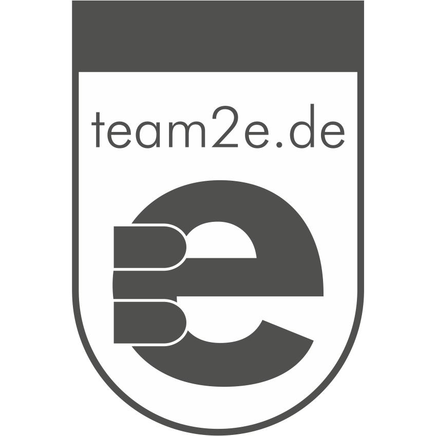 Logo von team2e werbung + druck GbR
