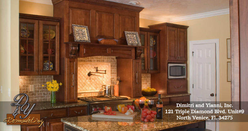 Dimitri yianni kitchen bath remodeling north venice for Kitchen cabinets venice fl