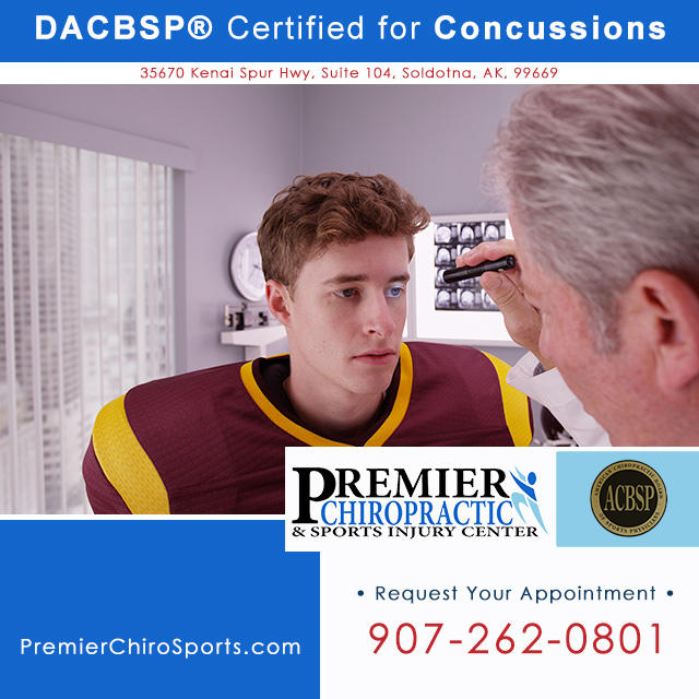DACBSP® certified Chiropractor in Soldotna on the Kenai Peninsula. Call Premier Chiropractic & Sports Injury Center: 907-262-0801.
