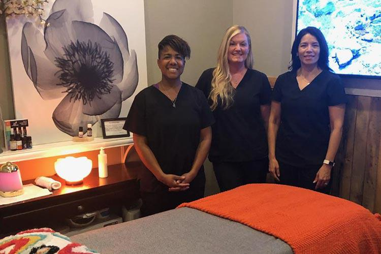 Our amazing Massage Therapists in one of our massage rooms at Lakeland's Advanced Spinal Care Chiropractic Medspa