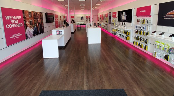 Interior photo of T-Mobile Store at Nathan Ellis Hwy & Market St, Mashpee, MA