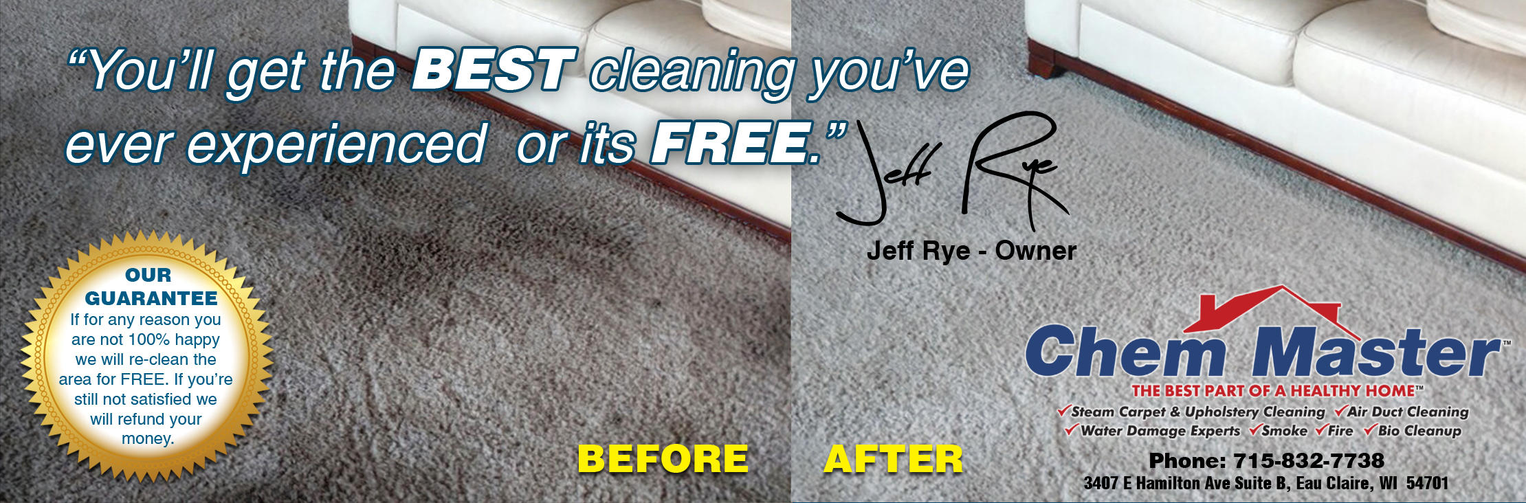 Chem Master Carpet Cleaning And Restoration image 5