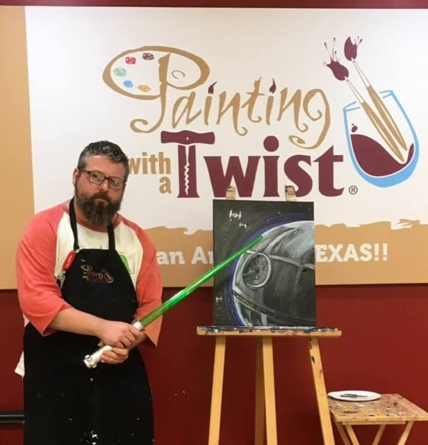 Painting with a twist for Wine and paint san antonio