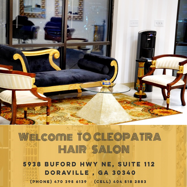 image of the cleopatra hair salon