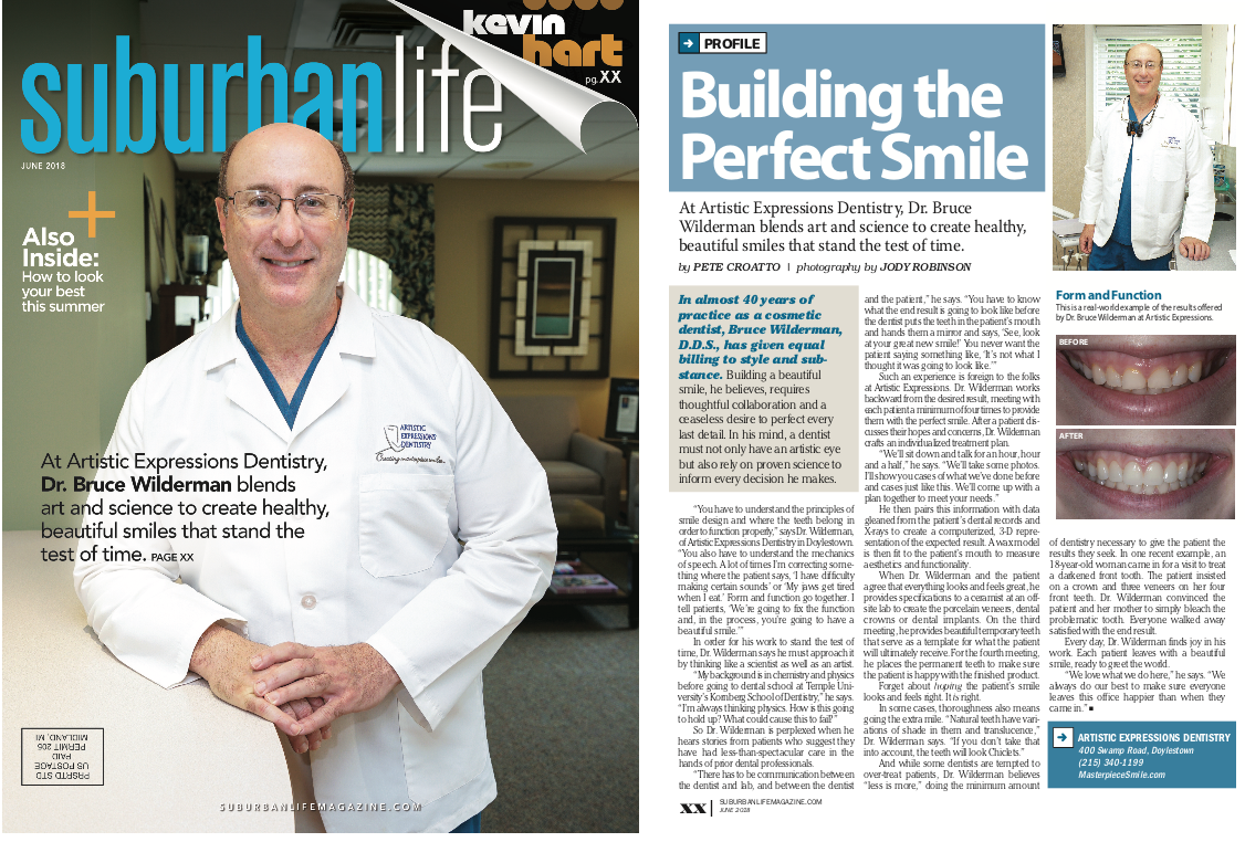 Magazine Cover of Dr. Wilderman of Artistic Expressions Dentistry | Doylestown, PA, , Dentist