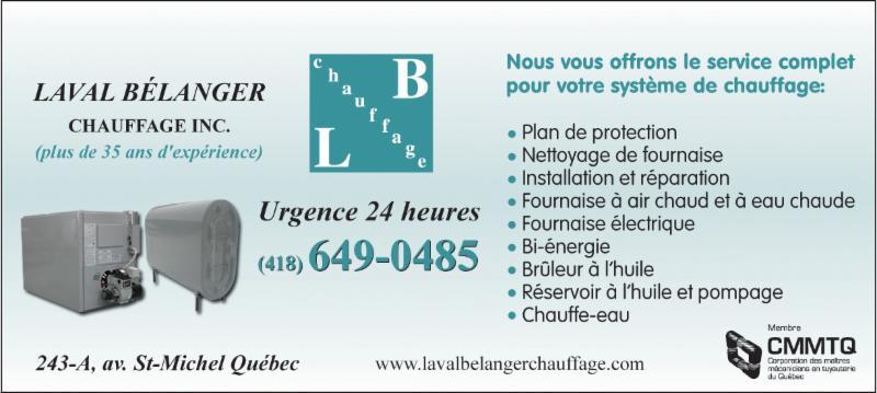 Bélanger Laval Chauffage Inc à Québec