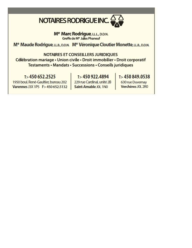 Notaires Rodrigue Inc à Varennes
