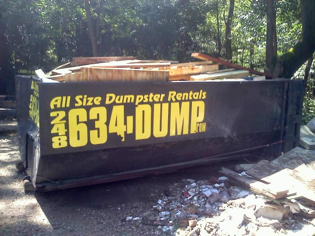 All Size Dumpster Rental 248-634-(DUMP)ster-3867 Demo Junk Removal image 2
