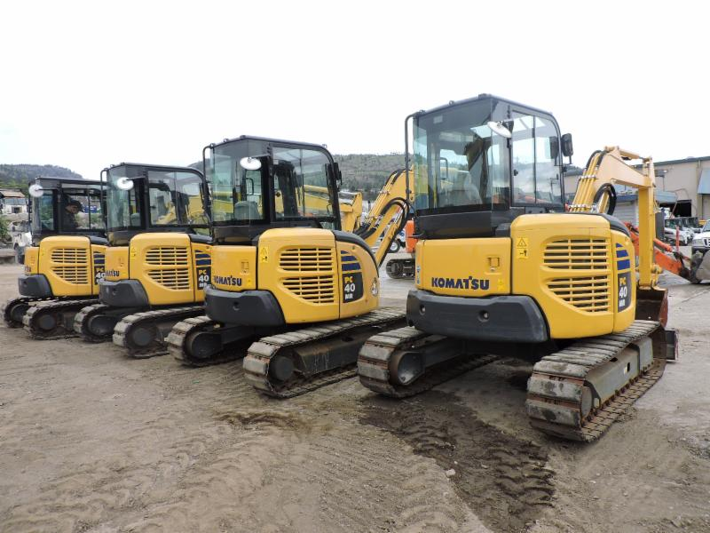 Pacific Rim Equipment Inc in Penticton: 4 Komatsu PC40's Call us for more Information (250)493-4545 or visit us at www.prequip.com!