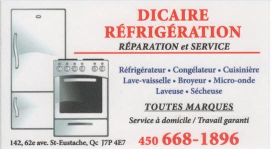 Dicaire Refrigeration Enrg à Saint-Eustache