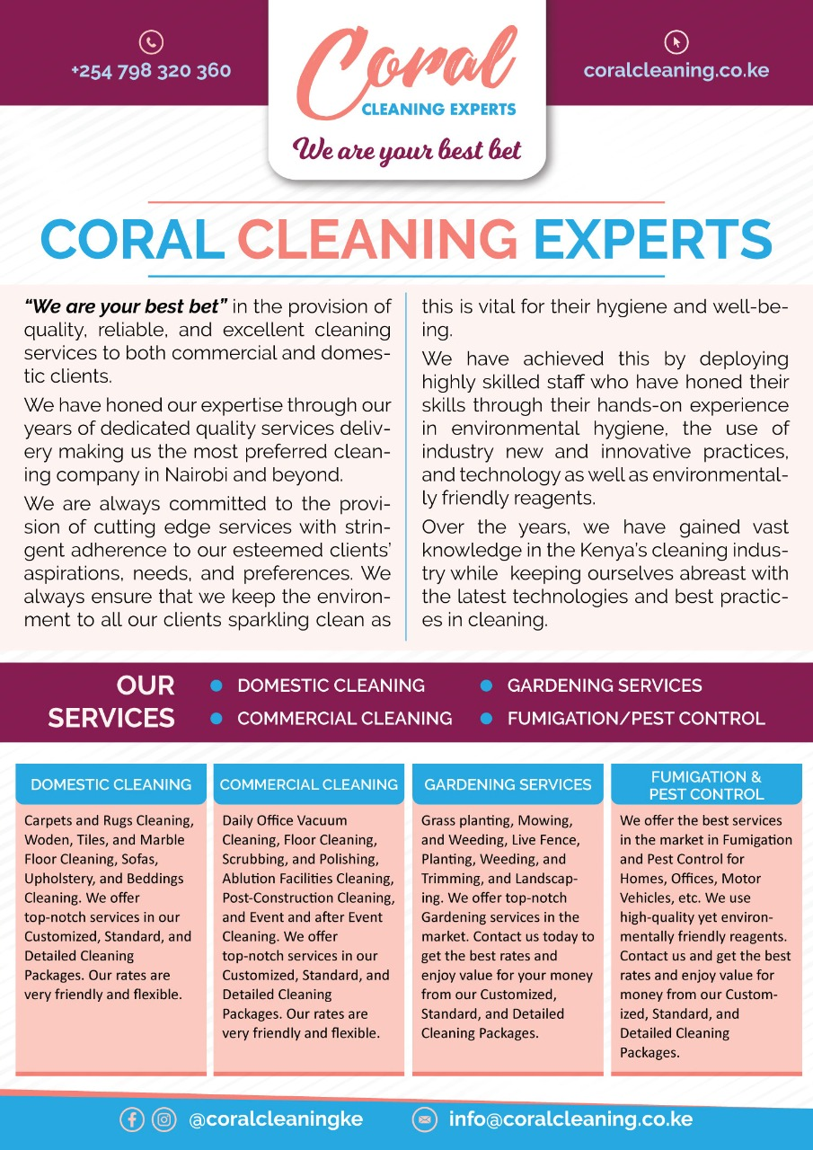 CORAL CLEANING EXPERTS LIMITED
