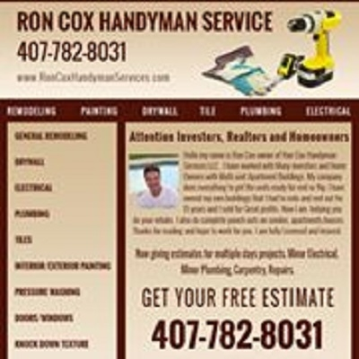 Ron cox Handyman services LLC - Windermere, FL 34786 - (407)782-8031 | ShowMeLocal.com