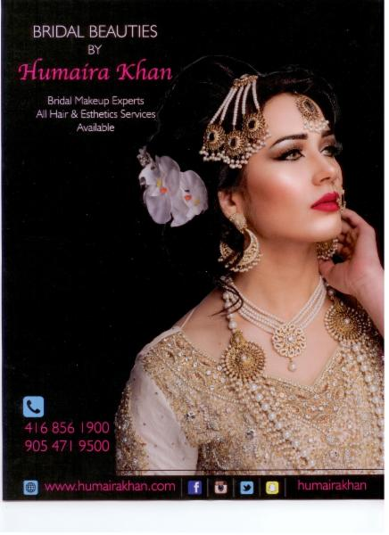 Hair Salon in ON Markham L3S 0B5 Beauty Salon by Humaira Khan 72-20 New Delhi Dr  (416)856-1900