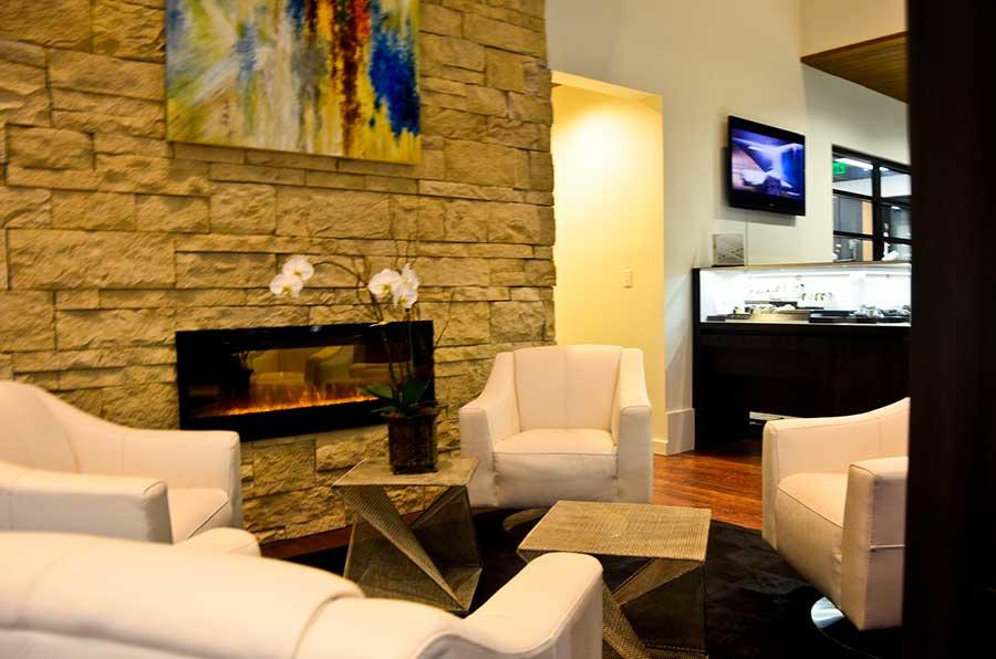 Lounge in comfort in our jewelry showroom